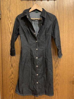Benetton Vestido vaquero negro-gris pizarra