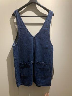 Bershka Jeansowa sukienka stalowy niebieski-ciemnoniebieski