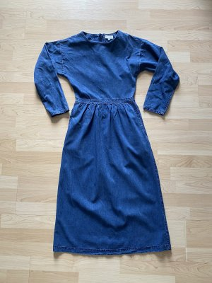Warehouse Vestido vaquero azul oscuro