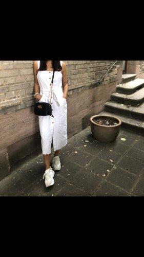 Zara Vestido vaquero blanco