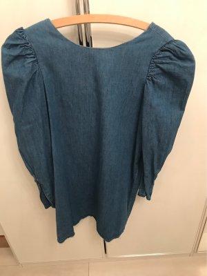 Zara Vestido vaquero azul aciano