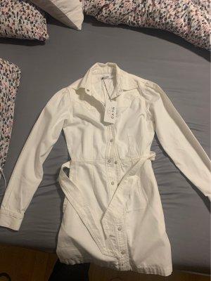 Nakd Jeansowa sukienka biały-w kolorze białej wełny