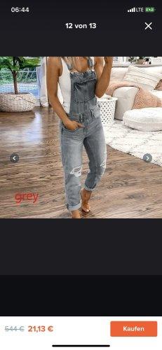 Jeans met bovenstuk grijs