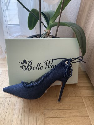 Belle Women Pointed Toe Pumps dark blue