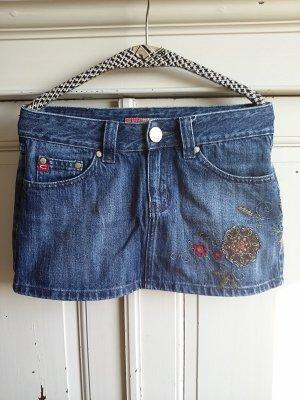 Castro Miniskirt blue cotton
