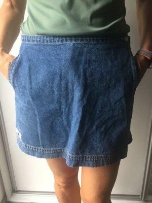 Falda pantalón azul aciano Algodón