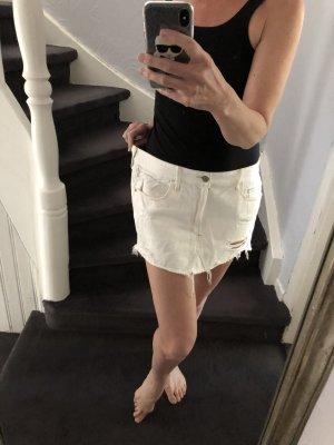 Jeansmini von Abercrombie & Fitch W31 weiß