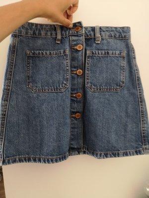 Bershka Jeansowa spódnica niebieski