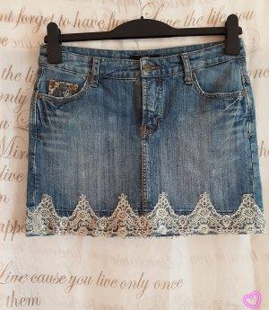 Melrose Jupe en jeans blanc-bleu