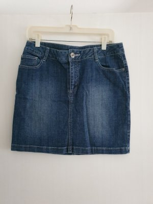 3 Suisses Denim Skirt dark blue