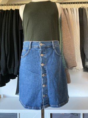 Mango Jeansowa spódnica niebieski