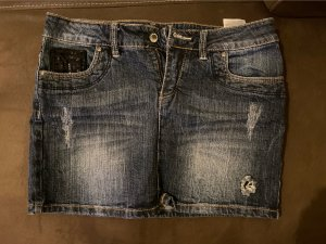 Fresh made Jupe en jeans bleu foncé