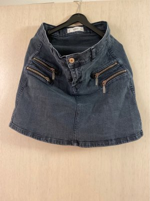 Mango Denim Skirt anthracite