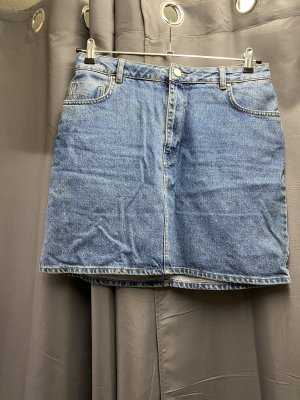 Asos Denim Jupe en jeans bleu acier-bleuet