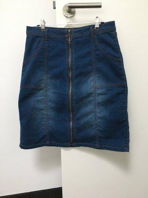 B.young Jupe en jeans bleu acier coton
