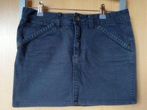 H&M Jupe en jeans gris anthracite-gris foncé coton