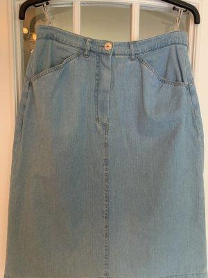 Barisal Jupe en jeans bleu azur coton