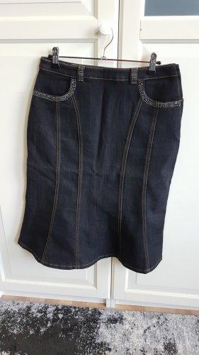Olsen Denim Skirt dark blue