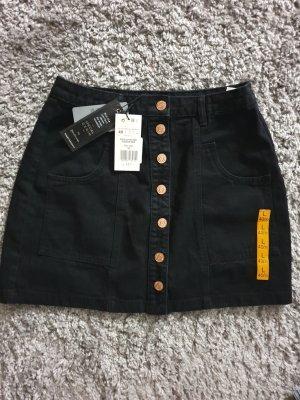 Stradivarius Jupe en jeans noir