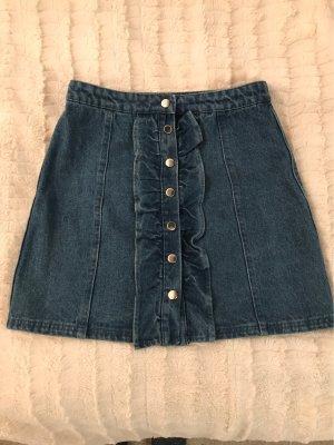 Review Gonna di jeans blu
