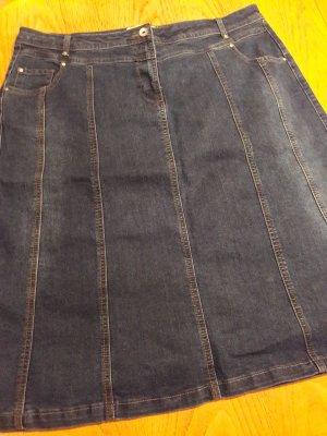 Collection L Denim Skirt dark blue
