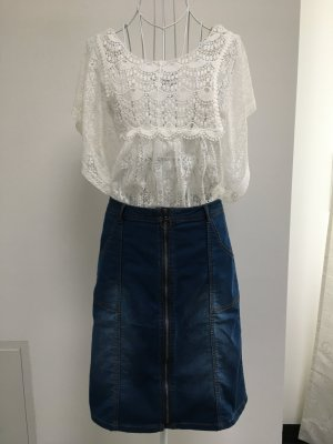 B.young Denim Skirt steel blue cotton