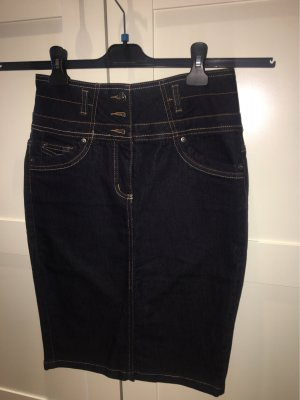 Ashley Brooke Gonna di jeans blu scuro-nero