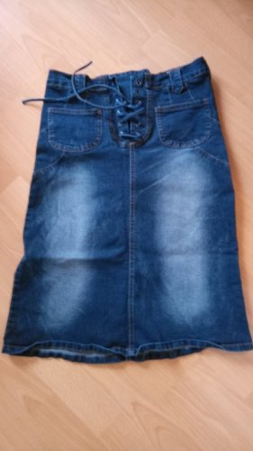 Crazy World Denim Skirt blue