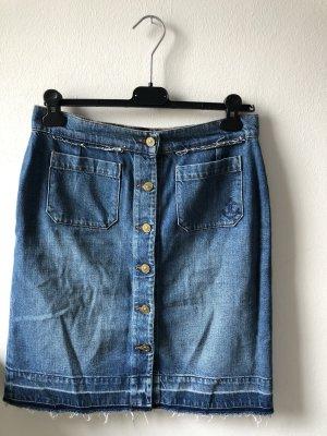 7 For All Mankind Denim Skirt steel blue