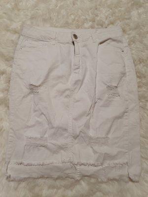 Zara Jupe en jeans blanc