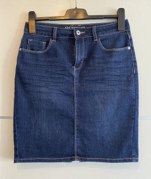 Orsay Gonna di jeans blu-blu scuro