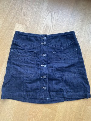 Free People Jeansowa spódnica niebieski