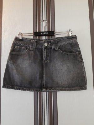 Mango Jupe en jeans gris coton