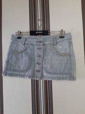 Mango Jupe en jeans bleu clair-bleu azur
