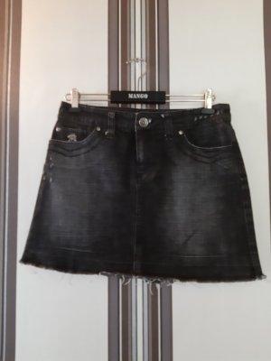 Mango Jupe en jeans noir