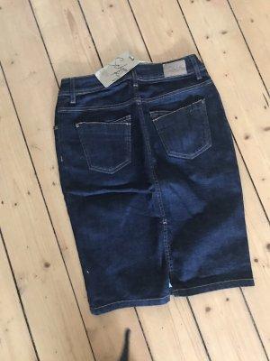 School rag Gonna di jeans blu scuro