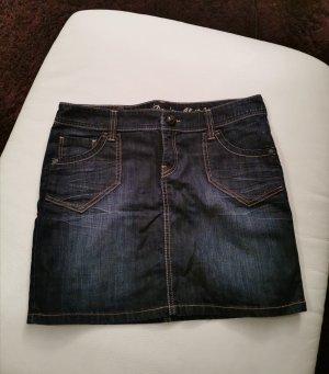 Esprit Jupe en jeans bleu foncé