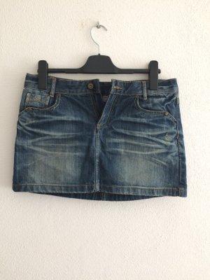 Sublevel Denim Skirt blue cotton