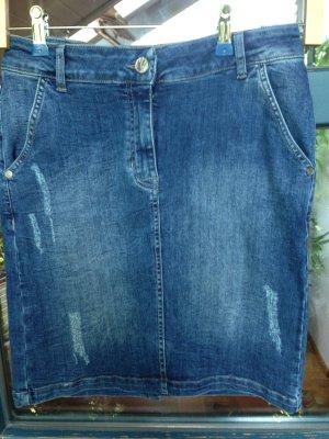 Qiero Miniskirt blue cotton