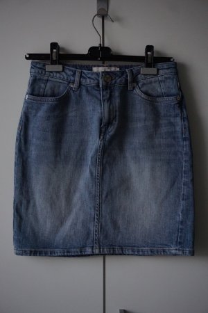 H&M L.O.G.G. Denim Skirt pale blue-azure cotton