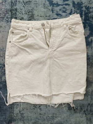 Jeansrock H&M Weiss 36