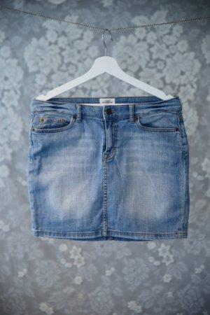 H&M L.O.G.G. Jupe en jeans bleu azur coton