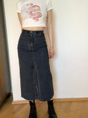 Jeansrock high waist Maxi