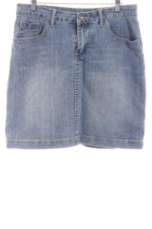 Jeansrock himmelblau-hellbeige Jeans-Optik