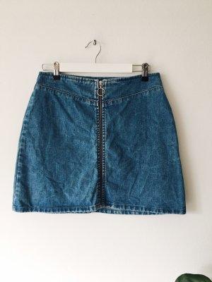 Asos Falda de talle alto azul aciano-azul acero
