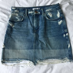 MNG Jeans Denim Skirt azure