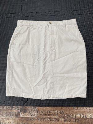 Jeansrock in woll -weiß