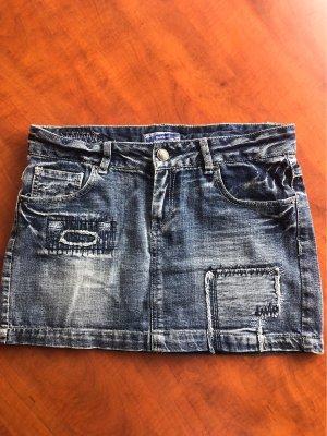 Sublevel Denim Skirt dark blue-blue