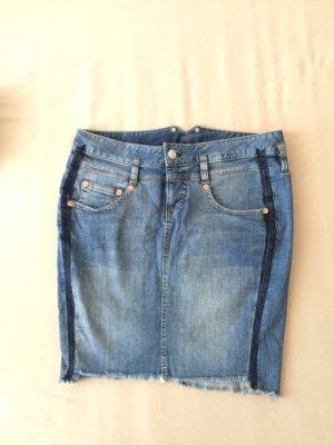 Herrlicher Gonna di jeans blu acciaio