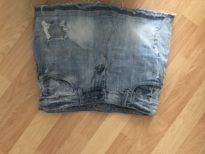 Jeansrock mini ripped destroyed look 38 stonewashed